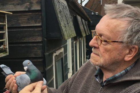Rob van Vuure met de emotionele kant van onze duivensport